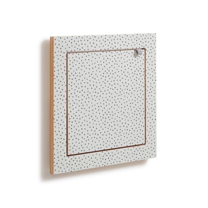 Fläpps Shelf, 40 x 40 cm, 1 shelf from Ambivalenz in Watercolor Dots by Kind of Style