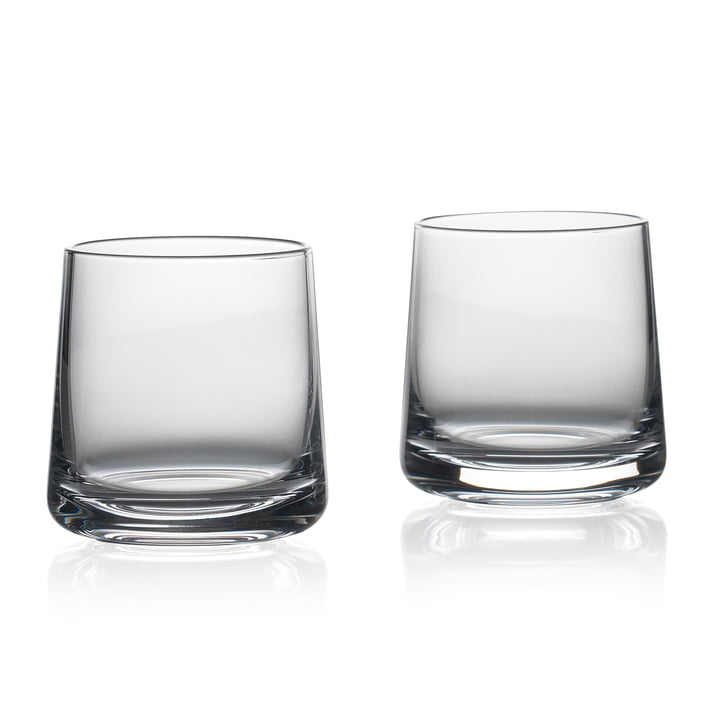 The Rocks drinking glasses from Zone Denmark , H 8 cm, clear (set of 2)