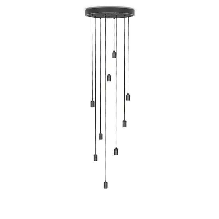 Brass Nine Pendant light from Tala in black / anodized aluminium