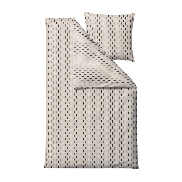 The Graphic bed linen from Södahl , 135 x 200 cm, offwhite
