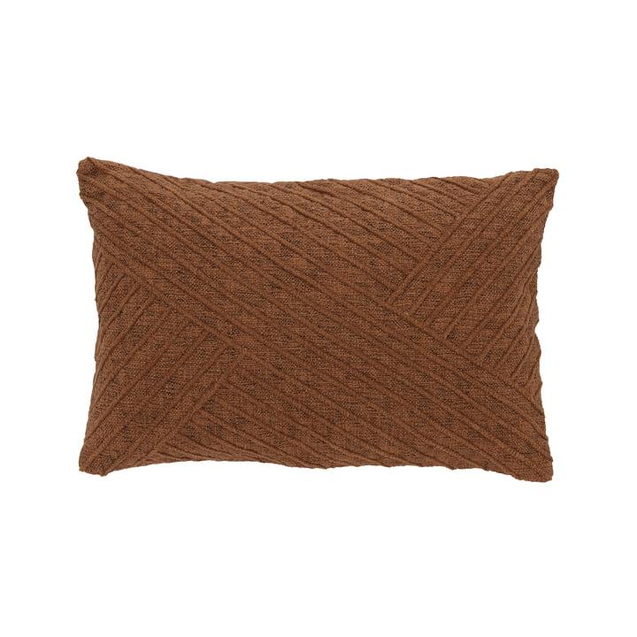 The Diagonal cushion from Södahl , 40 x 60 cm, clay