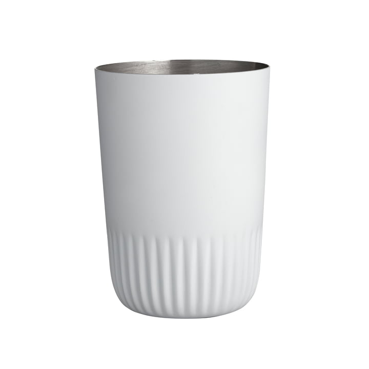 The Plissé toothbrush mug from Södahl , white