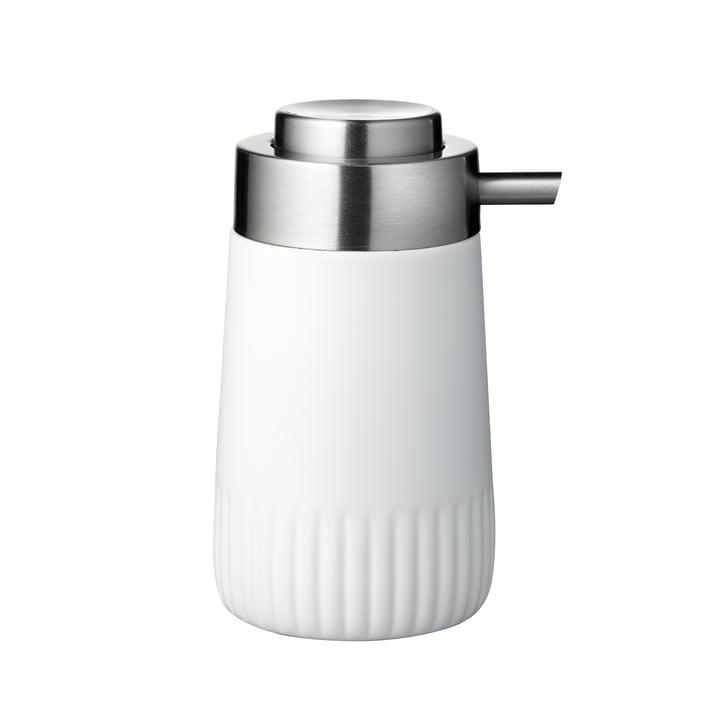 The Plissé soap dispenser from Södahl , white