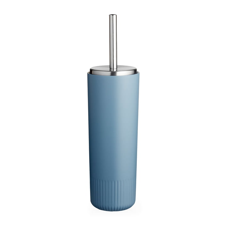 The Plissé toilet brush from Södahl , china blue