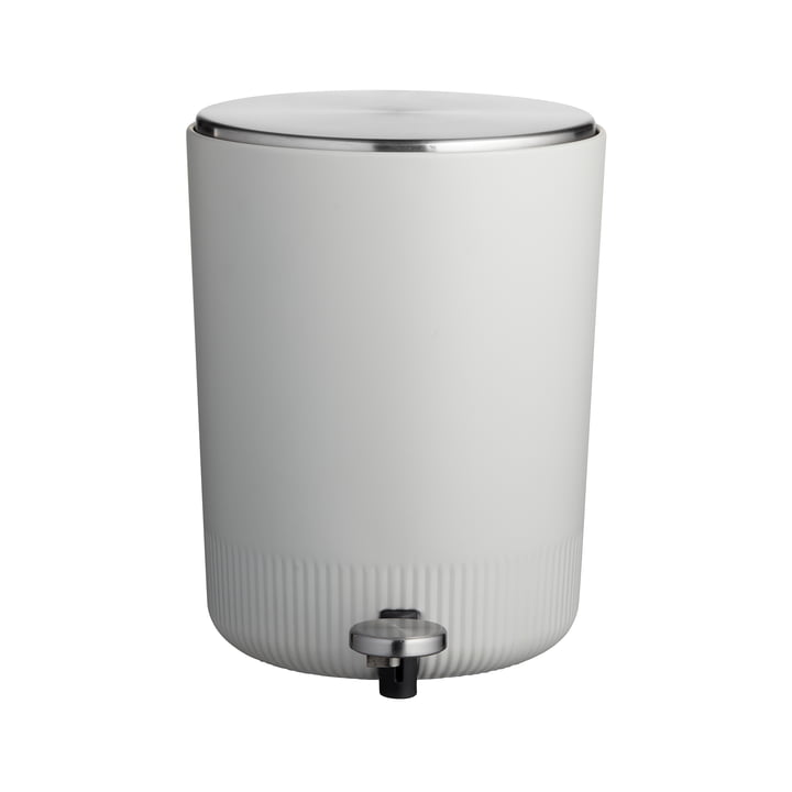 The Plissé pedal bin from Södahl , 5 L, light grey