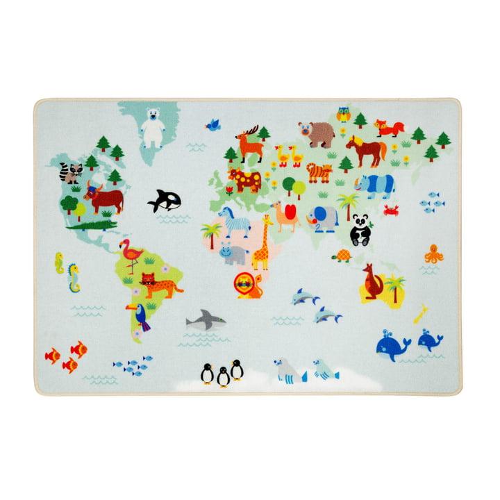 The play rug world map from byGraziela , 90 x 130 cm