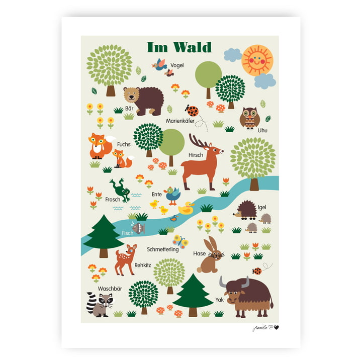 The forest animals poster from byGraziela , 50 x 70 cm
