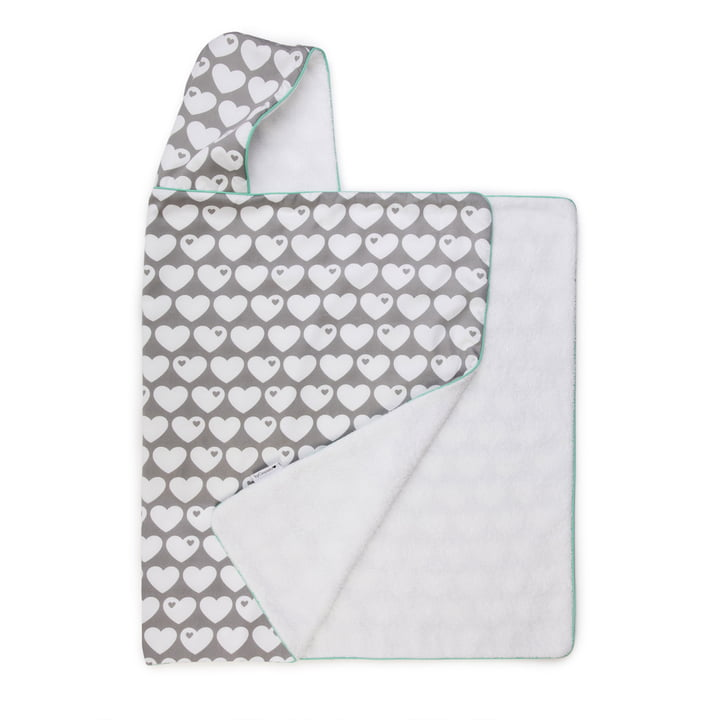 The hooded towel from byGraziela , heart grey