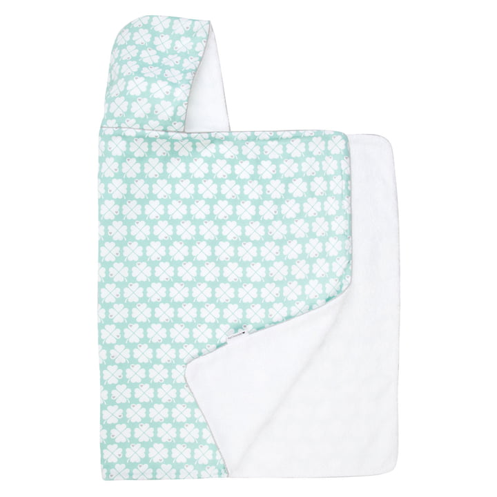 The hooded towel from byGraziela , cloverleaf mint