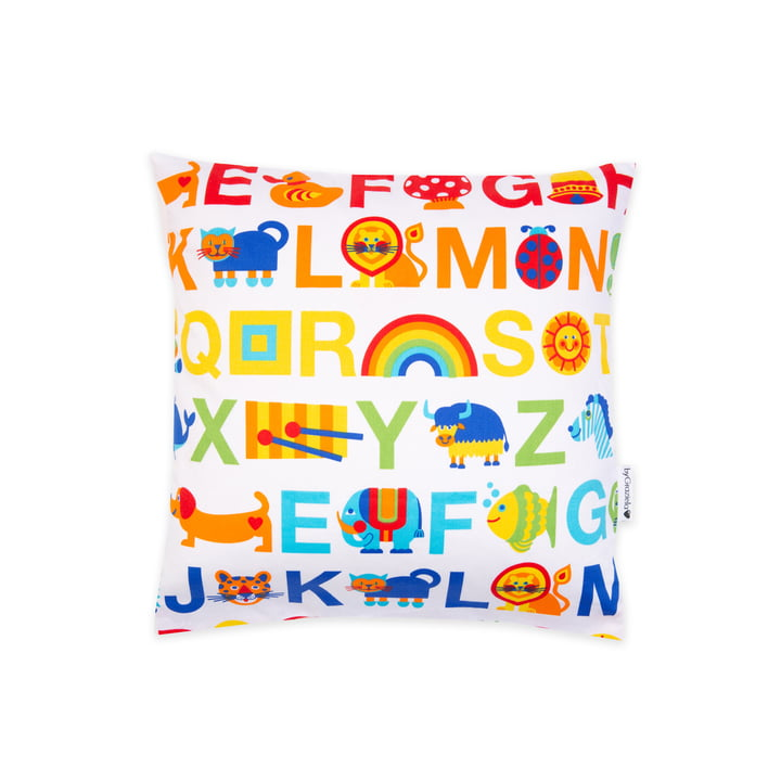 The pillowcase ABC Rainbow from byGraziela , 40 x 40 cm, multicoloured