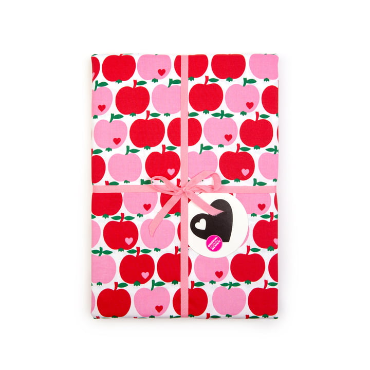 The bed linen apple from byGraziela , 135 x 200 cm, red / pink