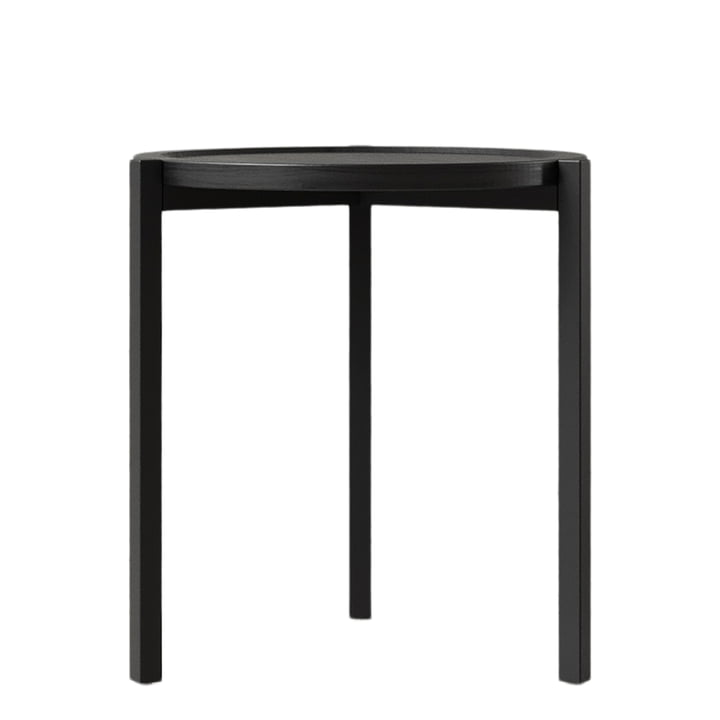 The side table from Nichba Design , Ø 45 cm, black