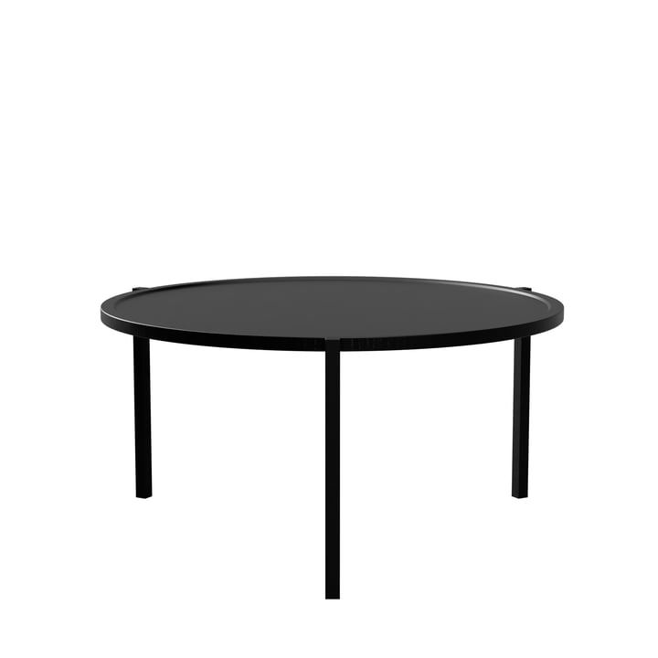 The coffee table from Nichba Design , Ø 90 cm, black