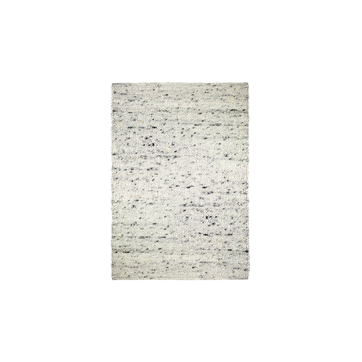 The felt ball rug Pebble from Connox Collection , 140 x 200 cm, beige mottled