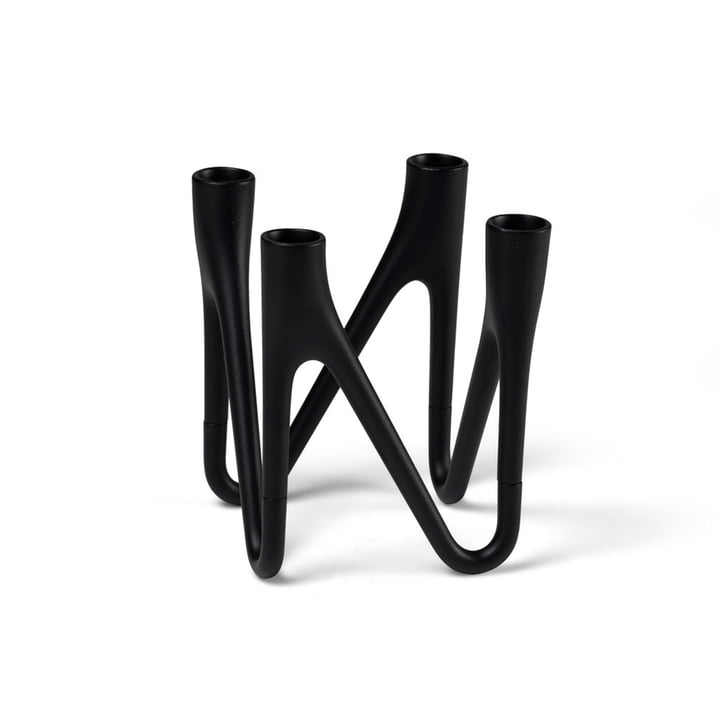 Roots Candleholder from Morsø for 4 candles in black