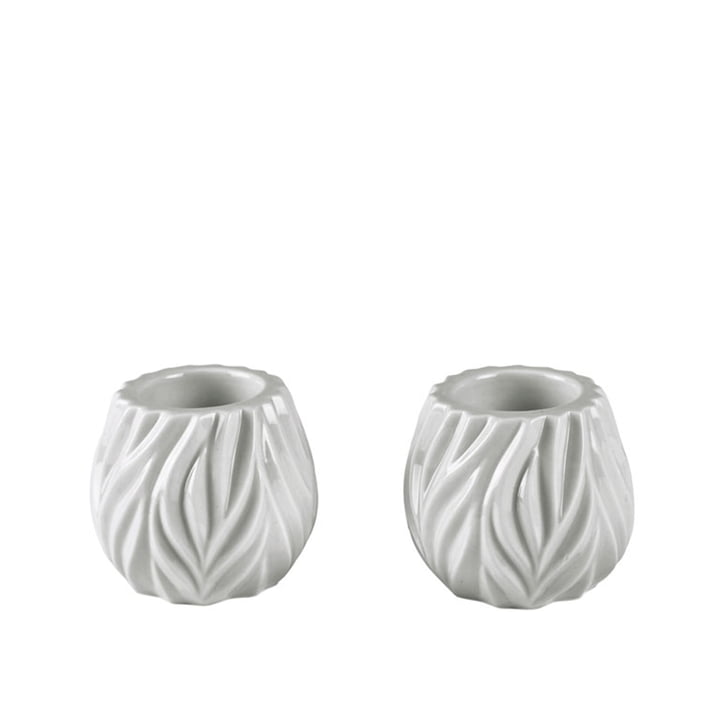 Flame Tealight holder from Morsø in white (set of 2)