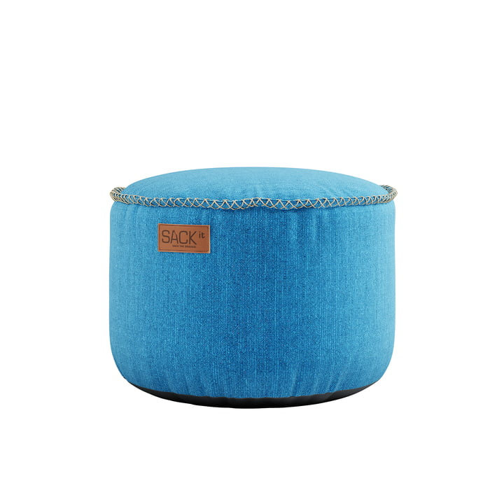 The RETRO it Cobana Drum Outdoor Pouf from SACK it, turquoise