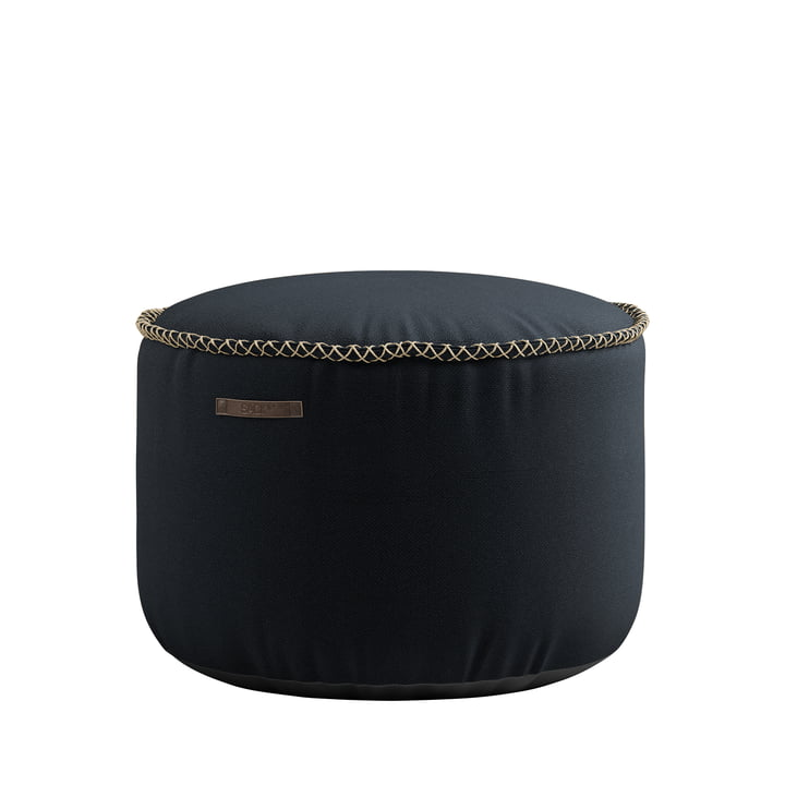 The RETRO it Cura Drum Pouf from SACK it, black