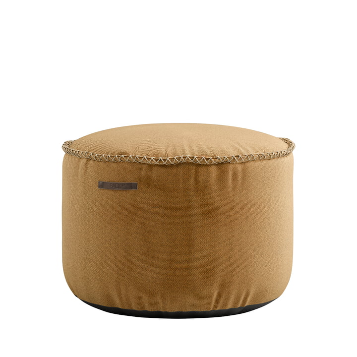 The RETRO it Cura Drum Pouf from SACK it, curry