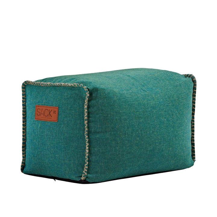 The RETRO it Cobana Square Pouf from SACK it, petrol melange