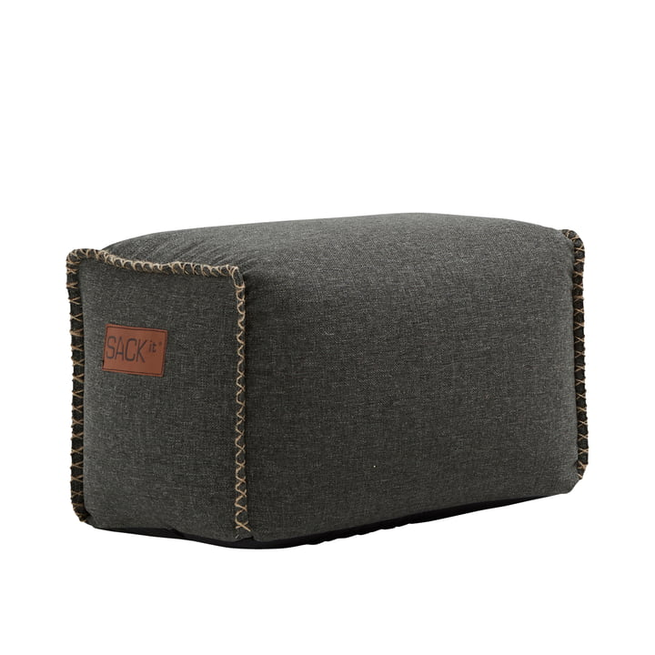 The RETRO it Cobana Square Pouf from SACK it, grey