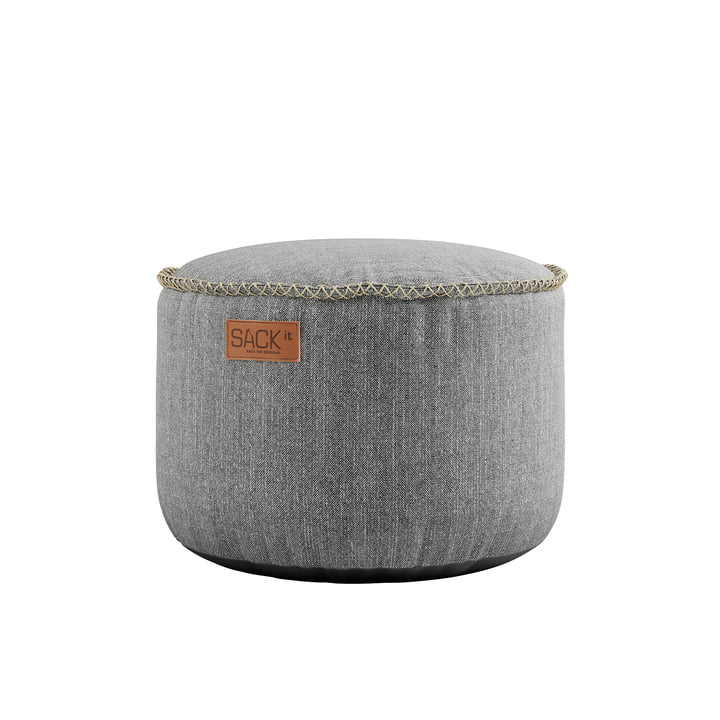 The RETRO it Cobana Drum Outdoor Pouf from SACK it, light grey