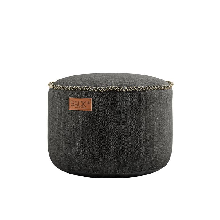 The RETRO it Cobana Drum Outdoor Pouf from SACK it, grey
