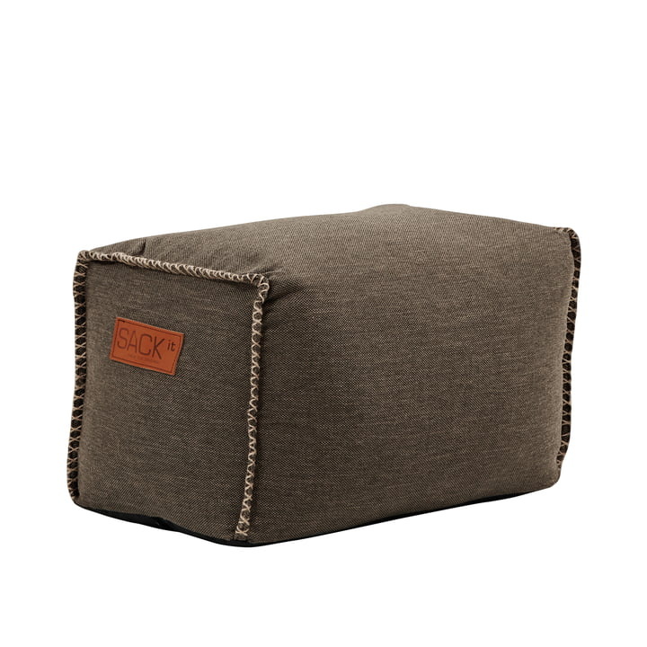 The RETRO it Cobana Square Pouf from SACK it, brown