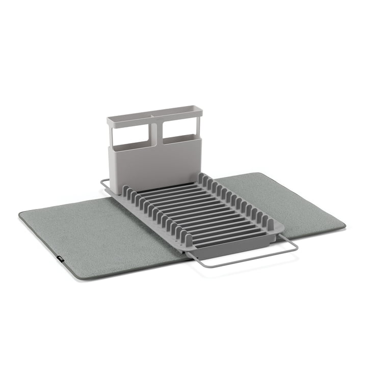 Udry Dish Rack & Drying Mat from Umbra in charcoal