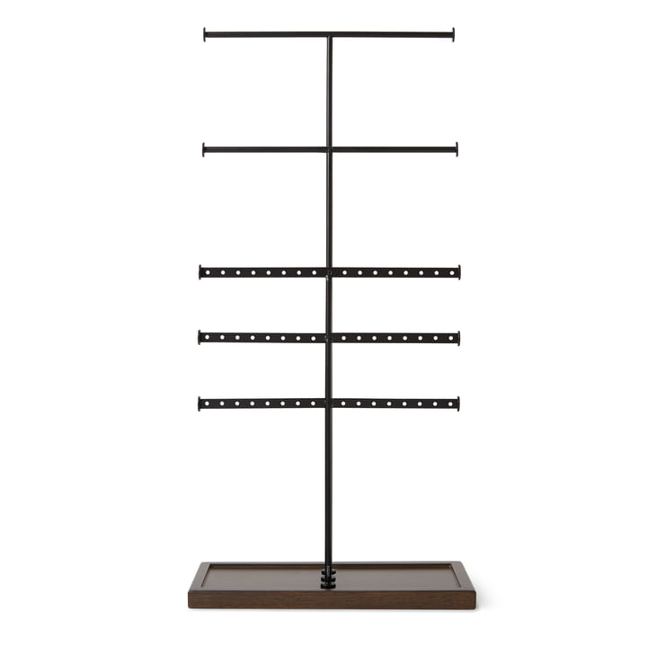 Trigem 5-tier jewellery stand from Umbra in black / walnut