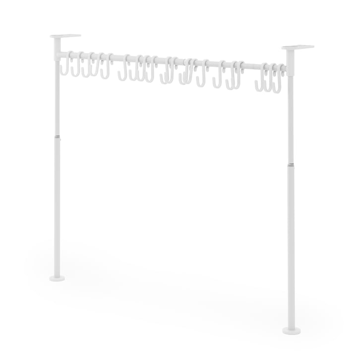 Anywhere Kitchen organizer with 20 hooks from Umbra in white