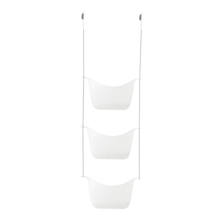 Bask Shower tray from Umbra in white / nickel