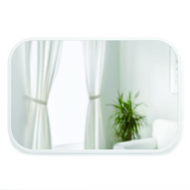 Hub Wall mirror rectangular 91 x 61 cm from Umbra in white