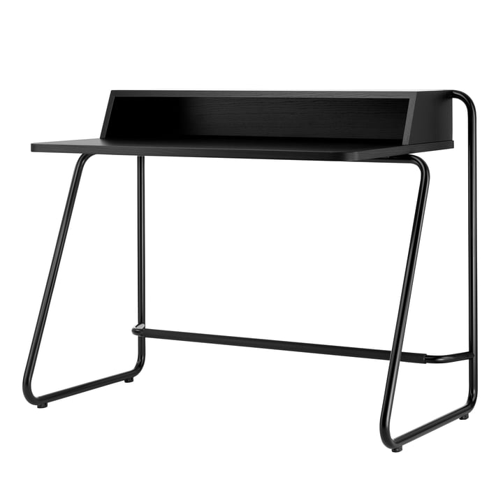 S 1200 Secretary from Thonet in steel black / body MDF deep black (RAL 9005) / table beech stained black