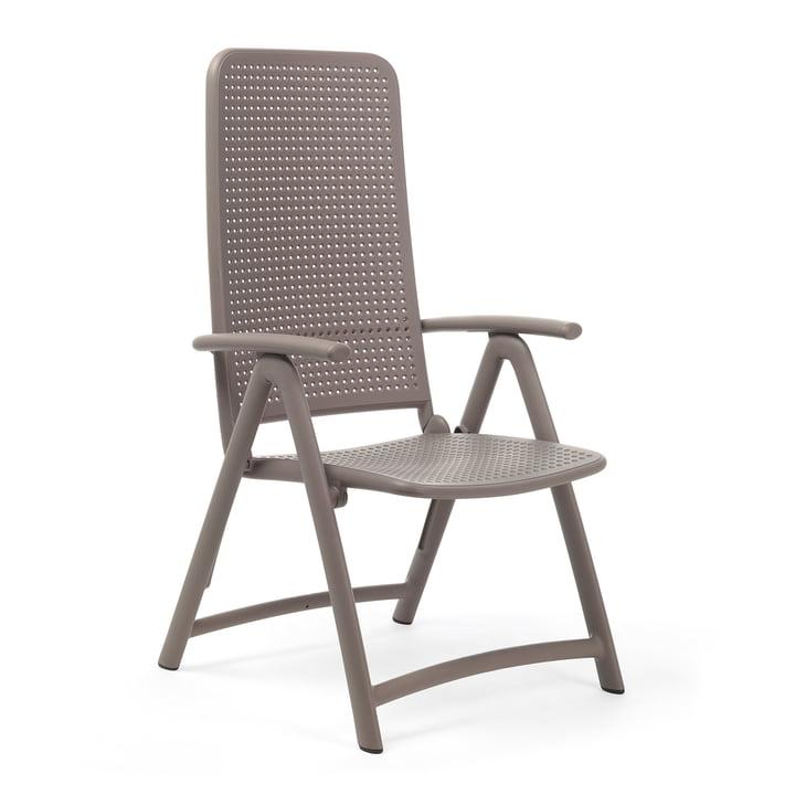 The Darsena Relax folding chair from Nardi , tortora