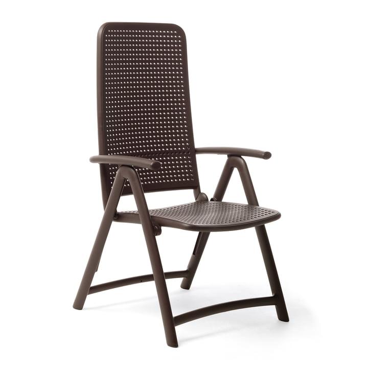The Darsena Relax folding chair from Nardi , caffè