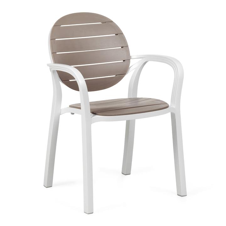 The Palma armchair from Nardi , bianco / tortora