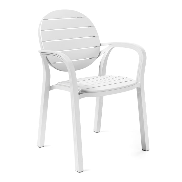 The Palma armchair from Nardi , bianco / bianco