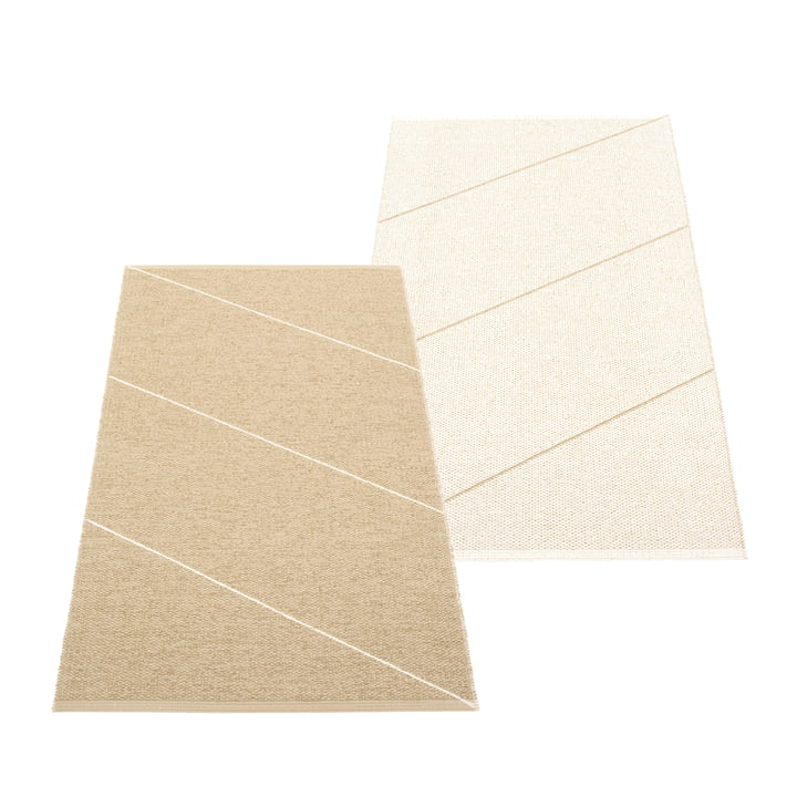 The Randy reversible rug from Pappelina , 70 x 135 cm, sand / vanilla