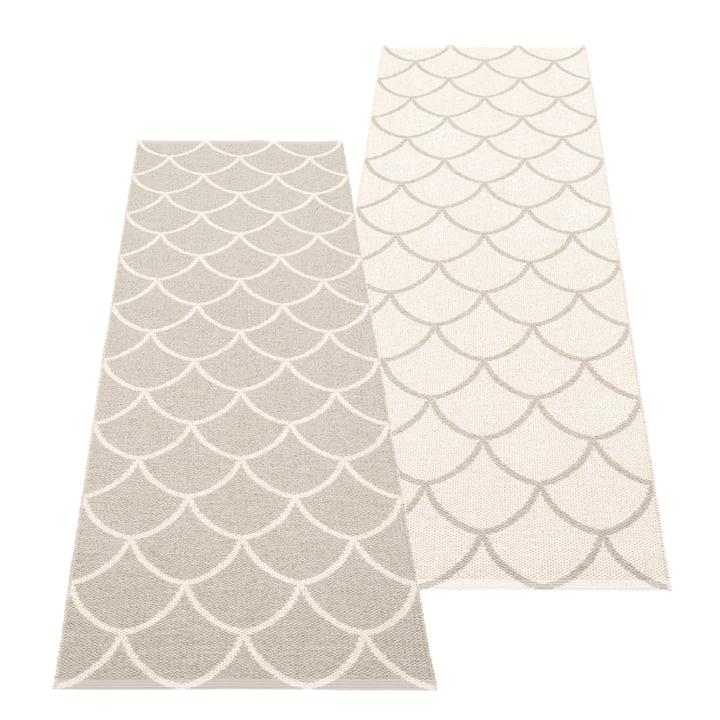 The Kotte reversible rug from Pappelina , 70 x 225 cm, linen / vanilla