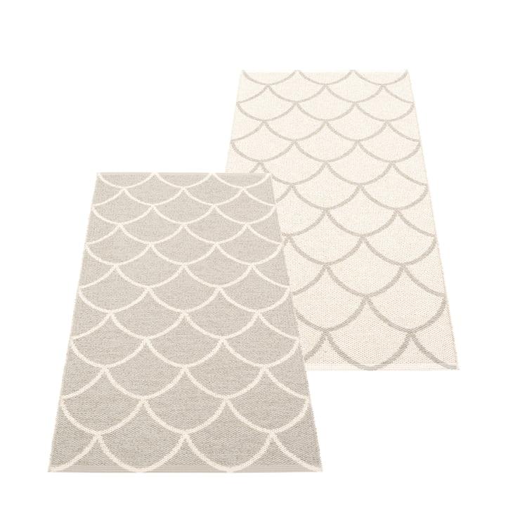 The Kotte reversible rug from Pappelina , 70 x 150 cm, linen / vanilla