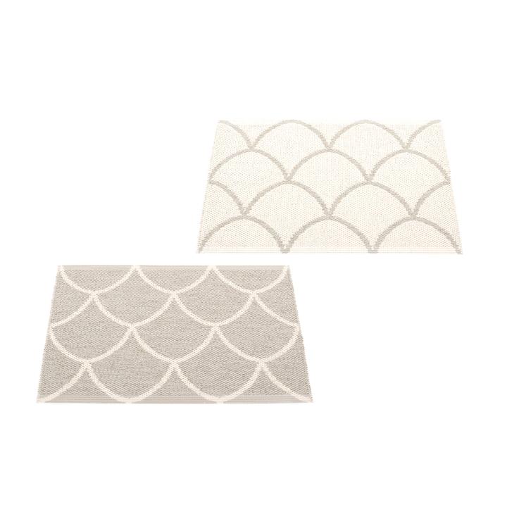 The Kotte reversible rug from Pappelina , 70 x 50 cm, linen / vanilla
