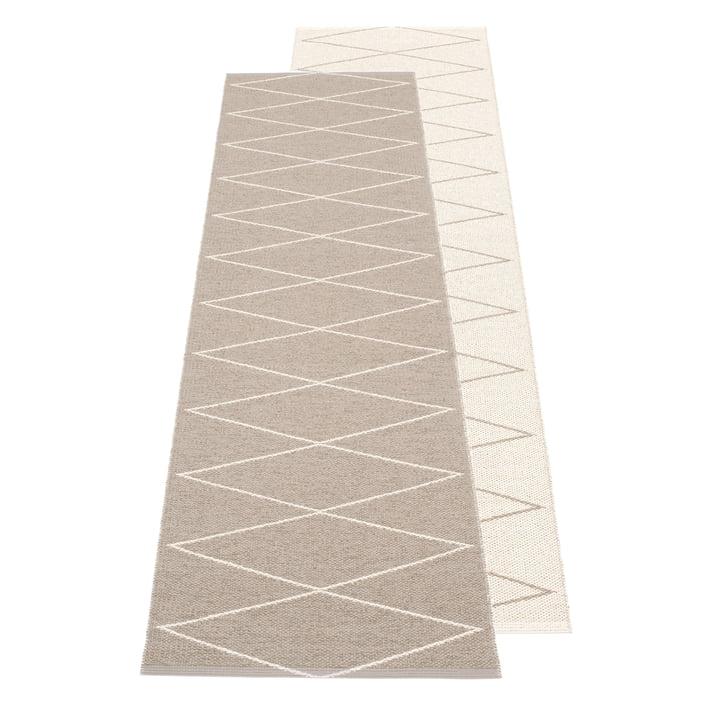 Pappelina - Max Reversible rug, 70 x 240 cm, mud / vanilla