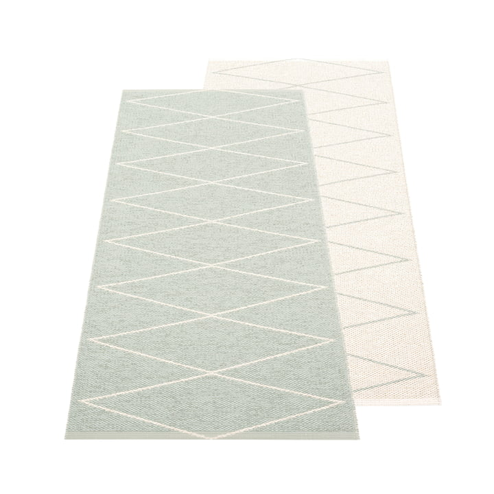 The Max reversible rug from Pappelina , 70 x 160 cm, sage / vanilla