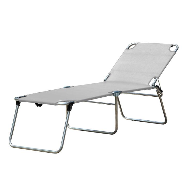 The Amigo 40 +three-legged lounger from Fiam , silver-grey