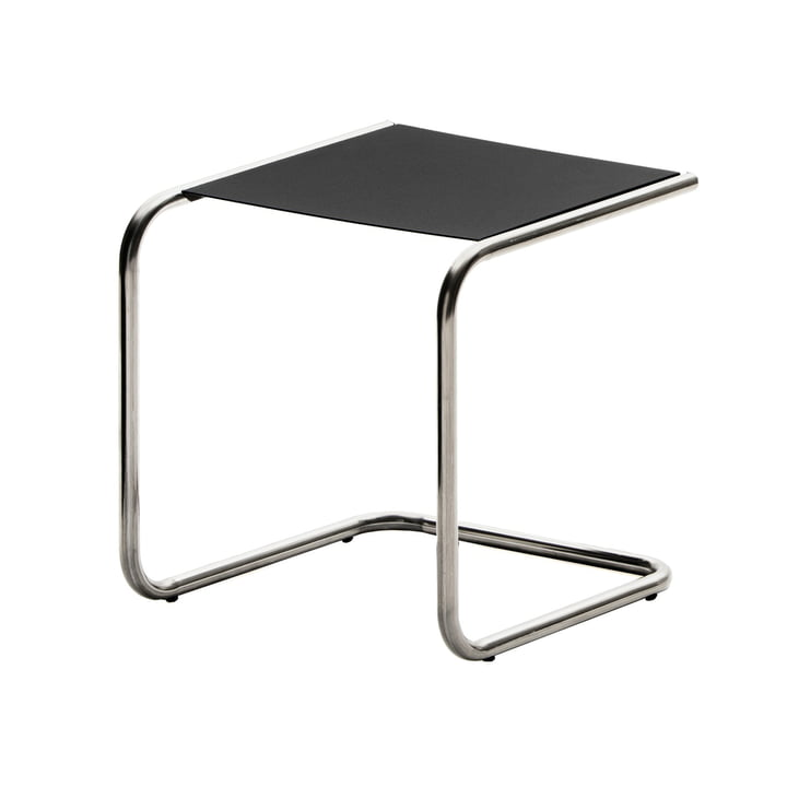 The Club Side table from Fiam , aluminium / black