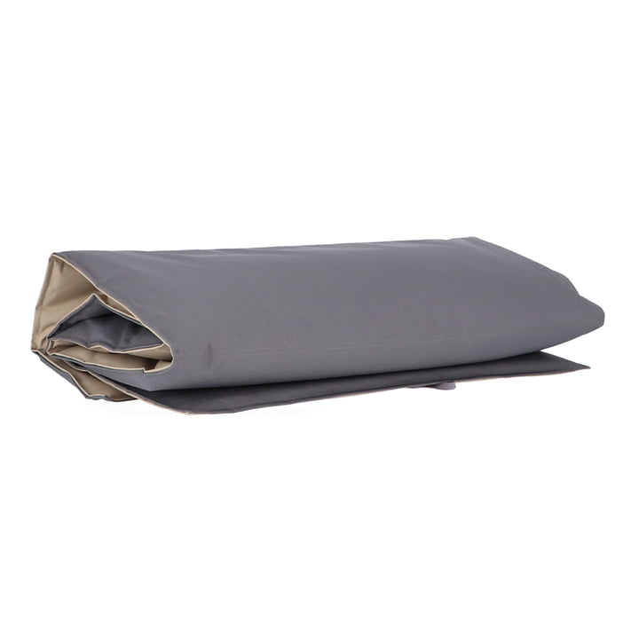 The Sun beach mat from Fiam rolled up