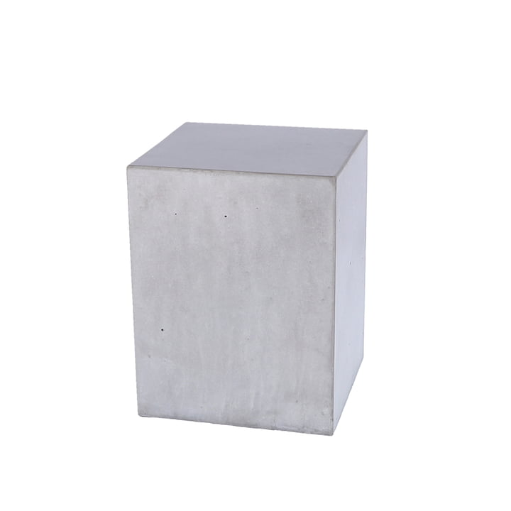 The Block concrete side table from Jan Kurtz , height 40 cm, waxed