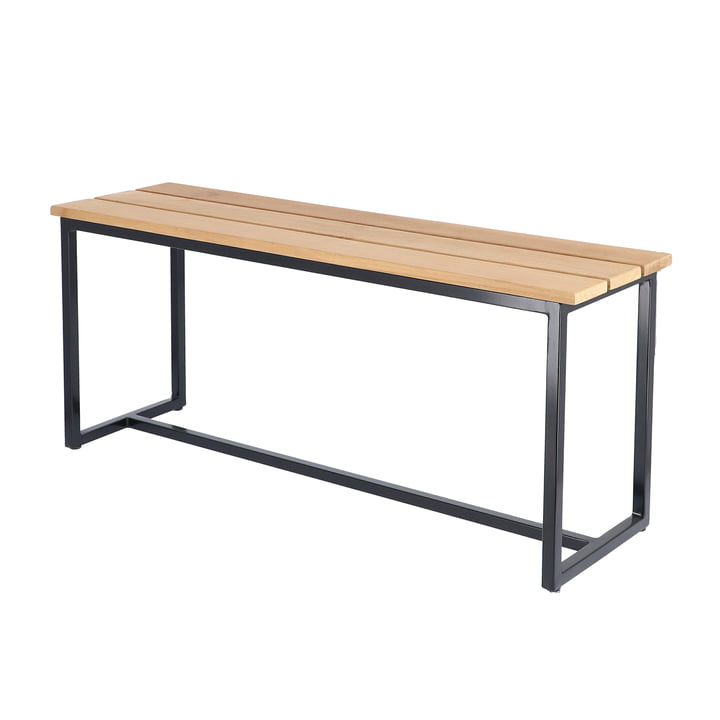 The Time bench from Jan Kurtz , made of teak with aluminium frame L 100 cm, black/natural