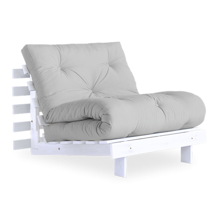 The Roots Sleeping chair from Karup Design , 90 cm, pine white / light grey